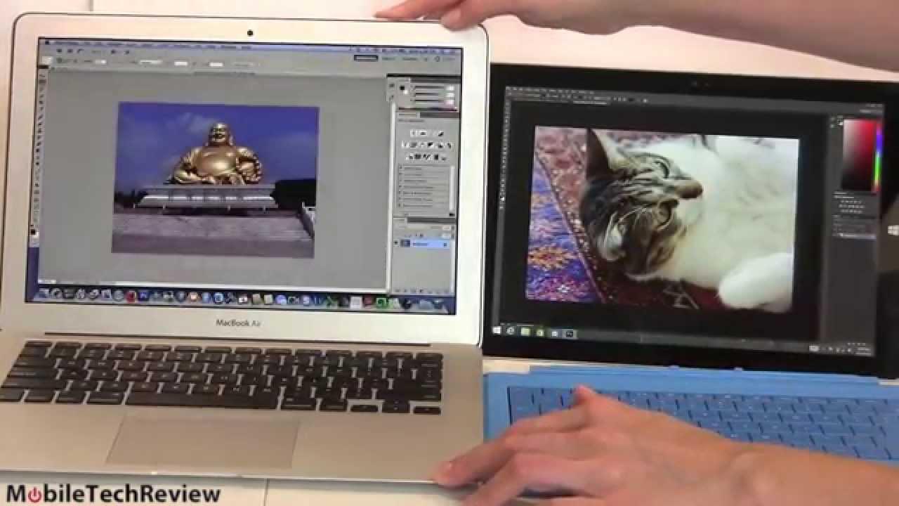 microsoft surface pro 3 vs macbook air comparison smackdown youtube. Black Bedroom Furniture Sets. Home Design Ideas