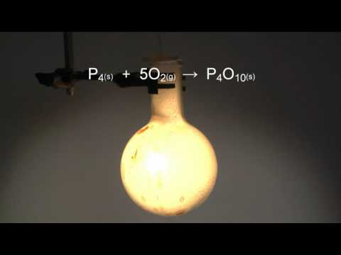 Reaction Of Oxygen With Phosphorus