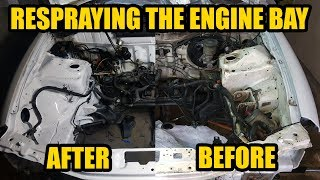 How To Clean & Paint Engine Bay Acura Integra DIY