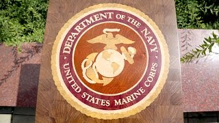 US Marine Corps logo decorative board
