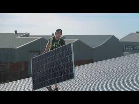 Commercial PV Solar Installation - Dry Ice International Port Elizabeth