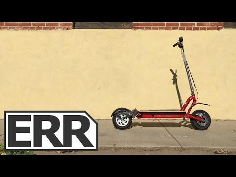 GoPed ESR750 Hoverboard Video Review - Powerful, Full Suspension Electric Kick Scooter