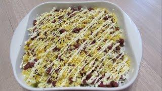 Салат с тунцом и фасолью / Рыбный салат