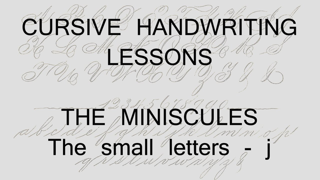 Worksheet Handwriting Lessons cursive lesson 2 j handwriting penmanship calligraphy copperplate youtube