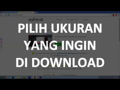 Cara Download Video di Youtube Mudah (Use Savefrom)