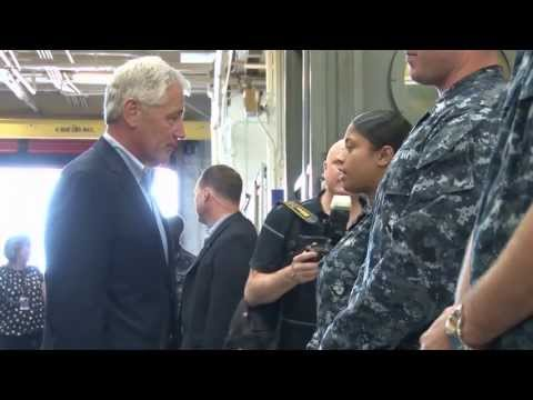 Secretary of Defense Visits Sailors Stationed in Florida