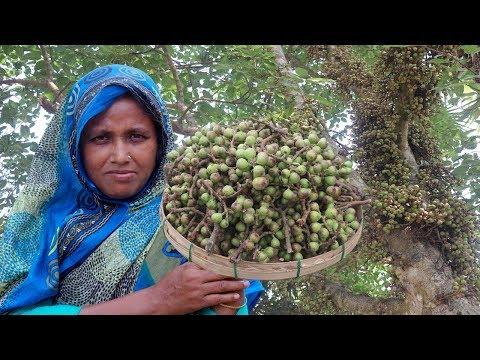 FARM FRESH Fig Recipe !! Healthy Cooking DUMUR & TAKI Mach Vorta | Cutting & Cooking Green Fig Fruit