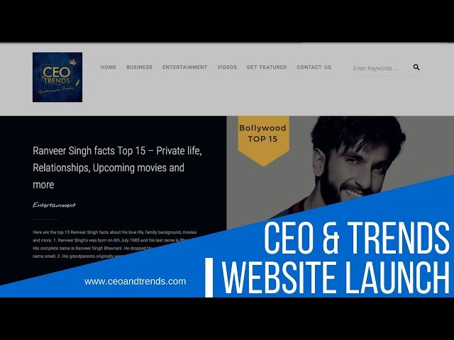 CEO & Trends Website launch | Homepage of Business & Entertainment News | ceoandtrends.com
