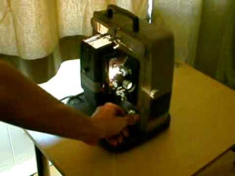 old Keystone 8mm Movie Projector operating 480p