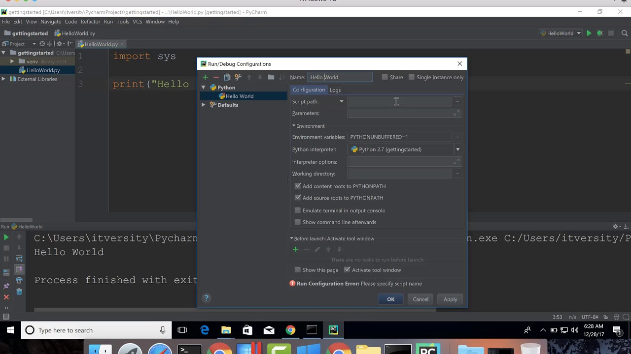 Setup Spark Development Environment – PyCharm and Python