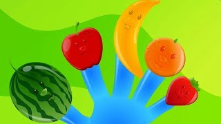 Fruit Finger Family | Fruits Song | Learn Fruits | Nursery Rhymes Songs For Kids