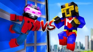 KIT DE SPIDERMAN VS KIT DE SUPERMAN ¿¡QUIÉN GANARÁ!? | MINECRAFT TROLL