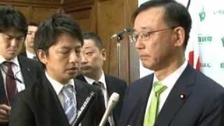 谷垣禎一総裁ぶら下がり記者会見~代表質問を終えて~(2010.10.6)