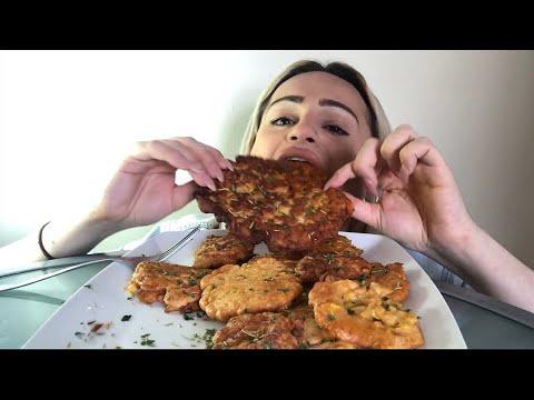 MEXICAN FOOD MUKBANG 먹방 SWEETCORN PANCAKES (FRITTERS) + DEMO