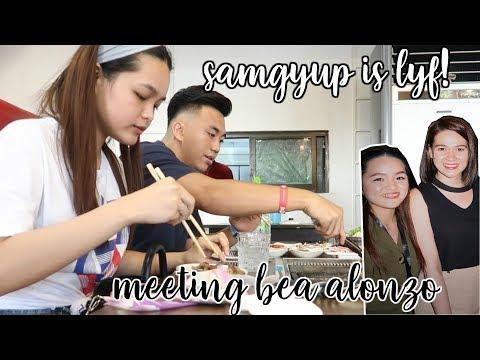 Na-MEET ko si BEA ALONZO + Samgyup is LYF! 🤤❤️  | Monica Garcia Vlogs ♡