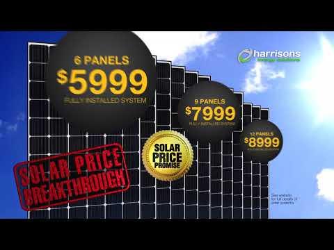 Harrisons Energy Solar Price Breakthrough From $5999 Fully Installed