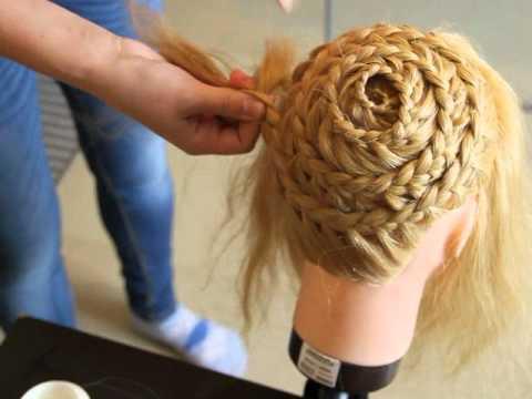 плетение по всей голове