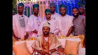 See How Nollywood Actor, Gabriel Afolayan Dance In With Groom On His Wedding Day