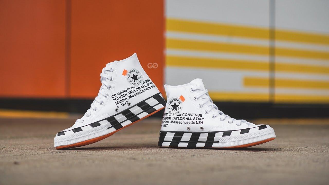 myyntipisteiden myynti luistella kengät halvin Off-White x Converse Chuck 70