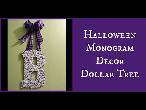 Halloween Monogram Decor Dollar Tree