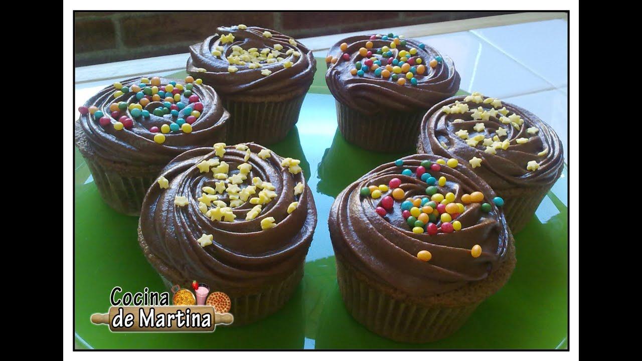 Cupcakes de chocolate recetas de cocina cocina de - Cocimax recetas ...