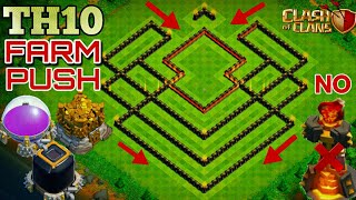 TH 9.75 Farming base 2018 | Th 10 Trophy base without infernos | Clash of clans Th 10 base |