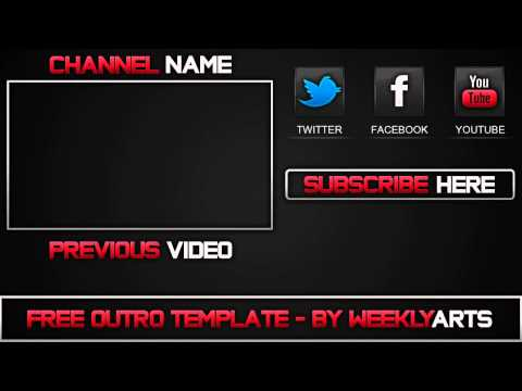 Free outro template 0007 2d paint net photoshop for Free outro template