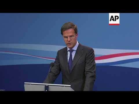 Dutch PM Rutte holds Moscow responsible for MH17 attack