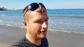 Анапа. Погода 10.10.2017 центральный пляж парк фонтаны Жара!!!