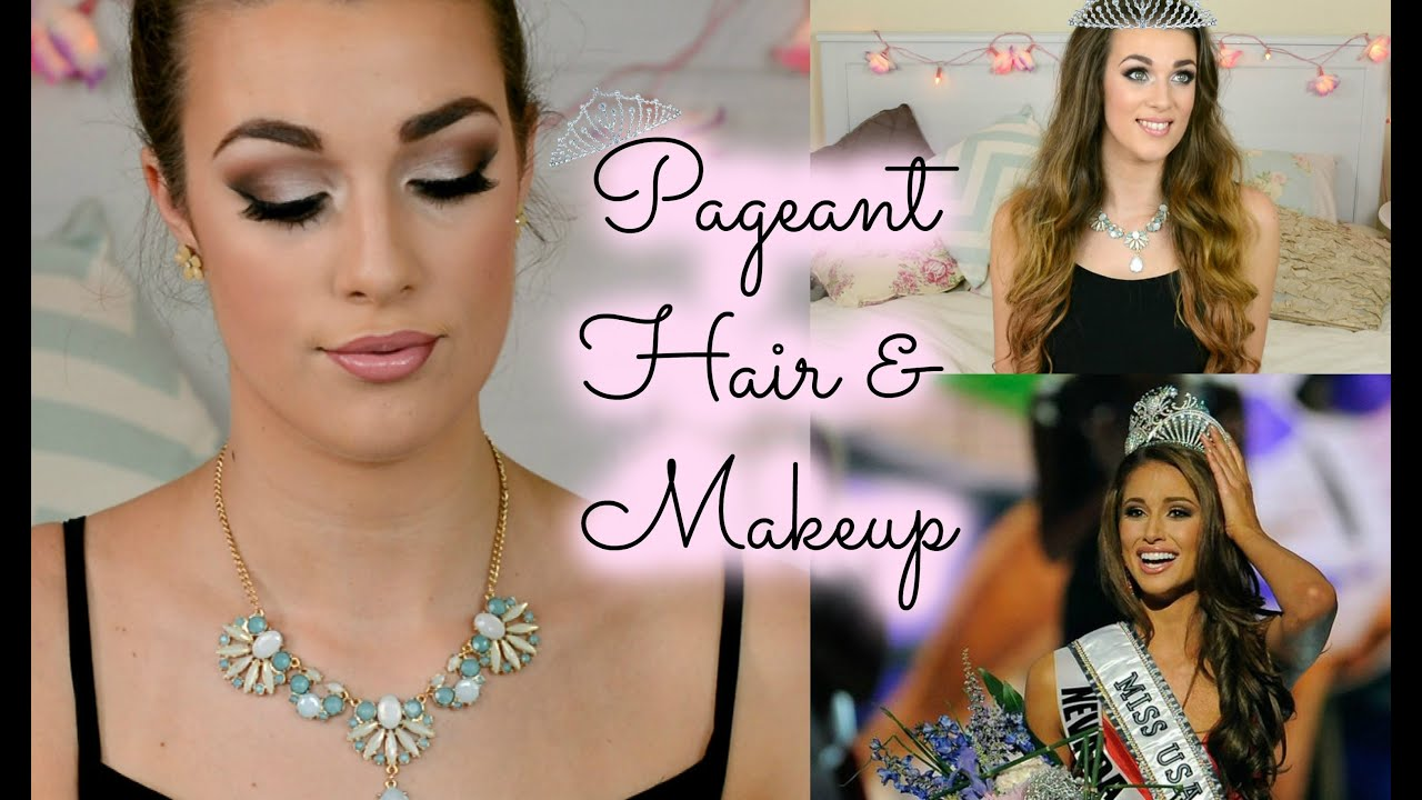 Beauty Pageant Hair  Makeup Tutorial Miss USA inspired