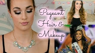 One of Ellie Dalton's most viewed videos: Beauty Pageant Hair & Makeup Tutorial, Miss USA inspired | Ellie Dalton