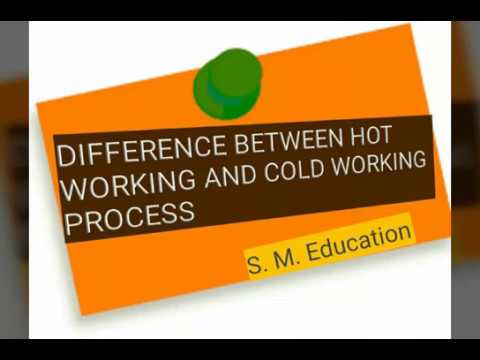 Difference between the hot working and Cold Working processes in hindi