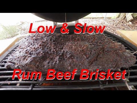Low & Slow Rum Beef Brisket aus dem Monolith
