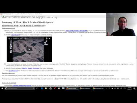 Tour of Astronomy on Moodle (AB Tech)