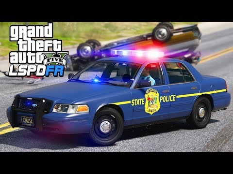 GTA 5 - LSPDFR Ep305 - Delaware State Police in Action!!