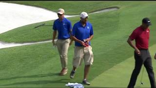 PGA Championship grounds crew fixes damaged hole in crucial situation