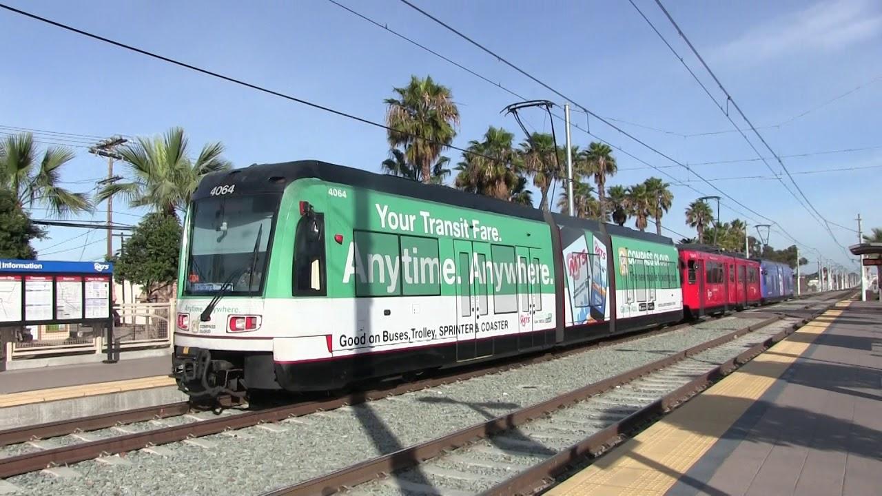 MTS Trolley - Siemens S70 UCSD Blue Line #4064 Arriving ...