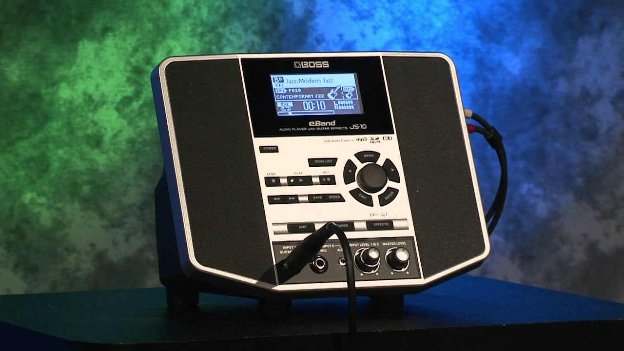 eBand JS-10 Audio Player with Guitar Effects Overview - Roland Connect  Sept  2012