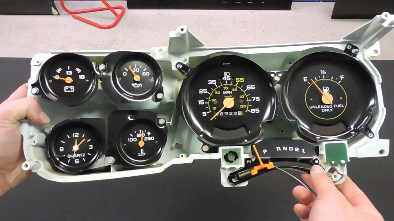 Cucv Wiring Diagram Light 1979 83 Chevy Truck Dash Shift Indicator 3 Speed - Youtube