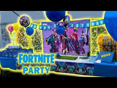 🎉 Fortnite Birthday Party  🥳 Start To Finish