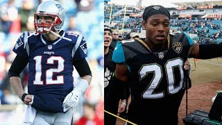 Jalen Ramsey CONFRONTS Tom Brady prior to AFC Championship Game