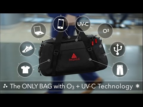 ea2e312e81bc PAQSULE   The Only Bag with O3 + UV-C Cleaning Technology - YouTube