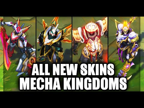 All Mecha Kingdoms Skins Spotlight Jax Sett Draven Garen Leona (League of Legends)