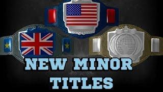 WWE 2K14 Custom Title Creation   New Minor Titles