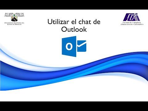 Utilización El Chat De Outlook