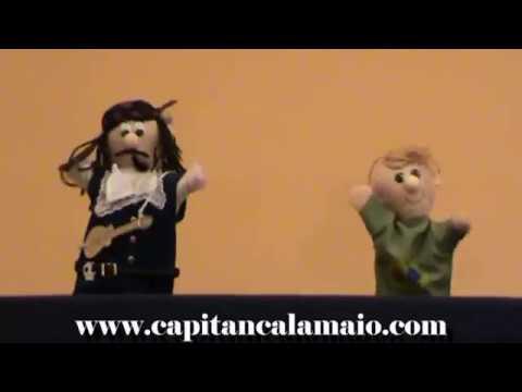 I burattini di Capitan Calamaio e Pennino cantano l'Inno