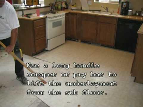 Arvada/Boulder Colorado Shows You: How To Remove Vinyl Flooring