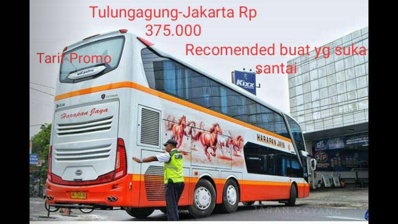 Trip Report Harapan Jaya Double Decker Tulungagung Jakarta Youtube