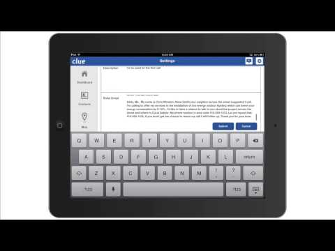 ClueCRM Using sales scripts when calling CRM contacts on your iPad video