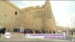 Új betelepítési kvótarendszerről dönthetnek Máltán